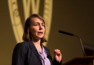 Dr. Sarah Van Orman speaks at the Nov. 8 Diversity Forum