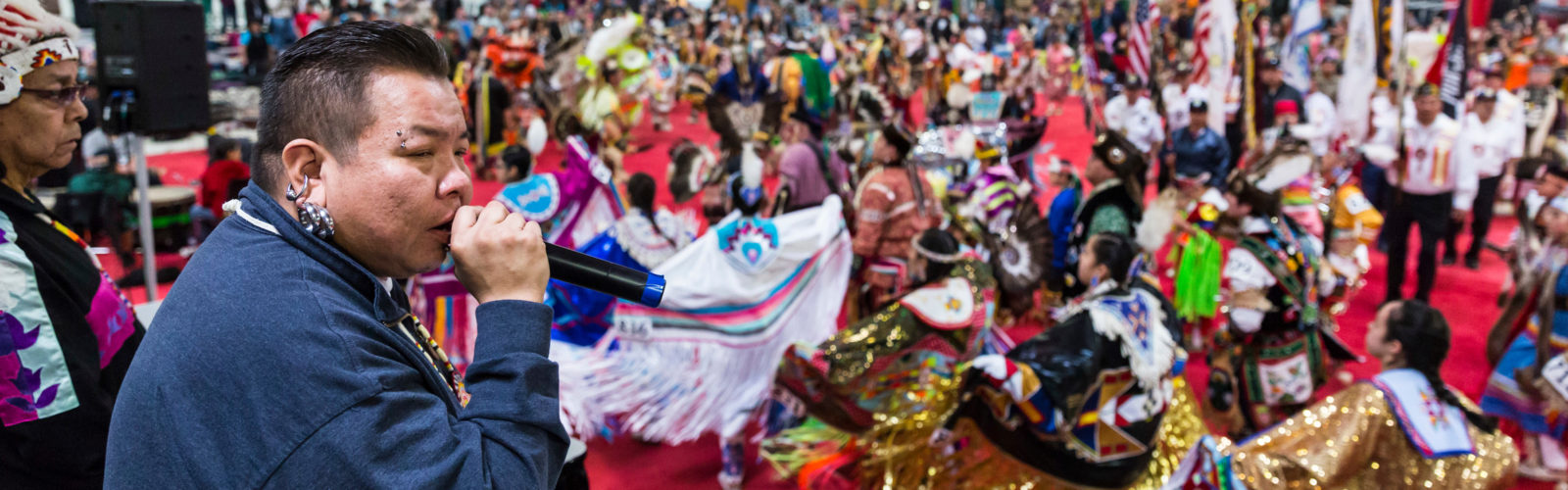 Scenes of dancers from Powwow 2017