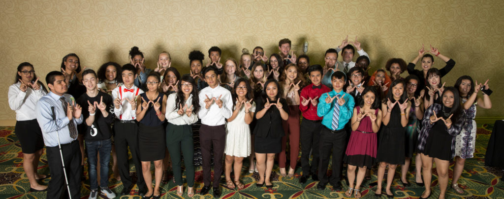 This yera's PEOPLE Elite, Rising Seniors with GPAs of 3.5 or higher, are recognized at the Annual PEOPLE Banquet July 21, 2017. DDEEA photo by Andy Manis.