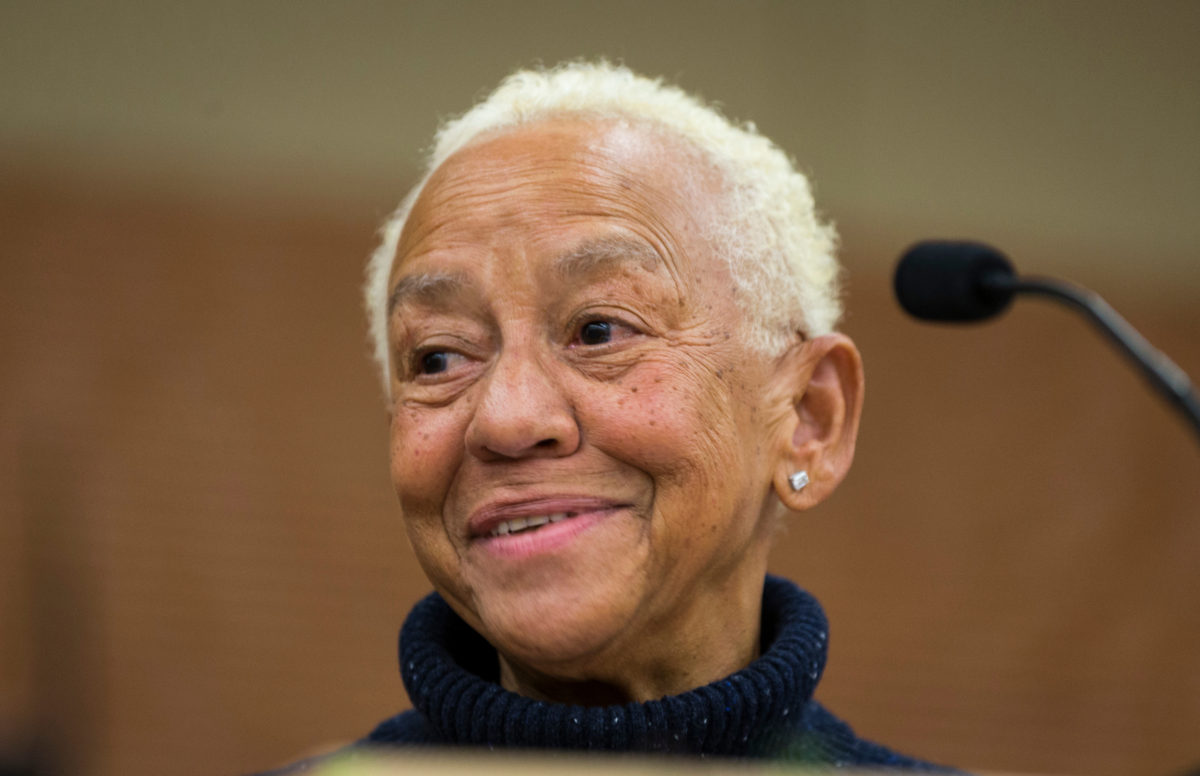 Poet Nikki Giovanni, a longstanding image of culture and joy in the Black community.