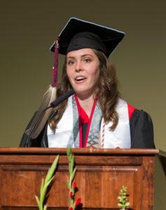 DDEEA Graduation CeO Speaker Kelsey Harker ('17) May 12, 2017. (Photo © Andy Manis)