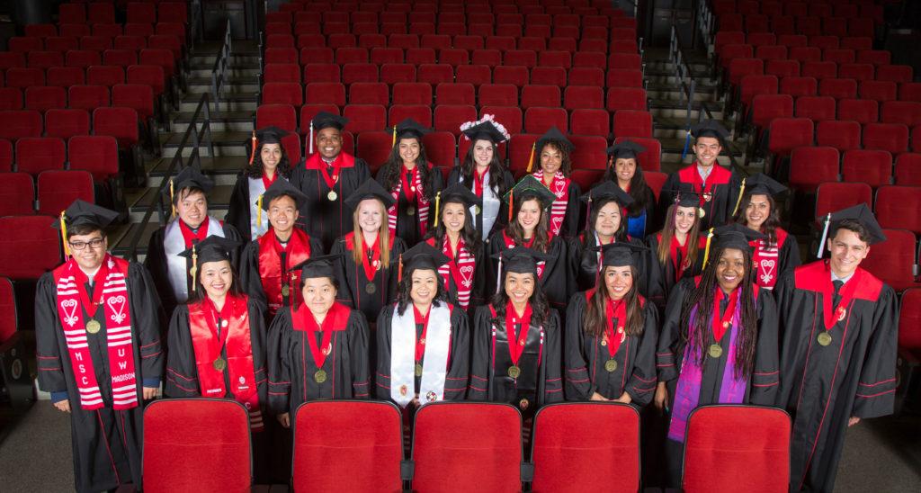 DDEEA Graduation Powers-Knapp Scholars. May 12, 2017. (Photo © Andy Manis)