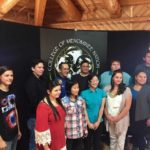 The National Science Foundation grant supported an event that brought John Herrington, the first enrolled Native American (Chickasaw) to fly in space, to the College of Menominee Nation and UW–Madison over a three-day visit. Herrington (back row, third from left) met with students and shared his inspirational journey from childhood to his eventual career at NASA and the mission to the International Space Station. BRIAN NUNEZ, COLLEGE OF ENGINEERING'S DIVERSITY AFFAIRS OFFICE