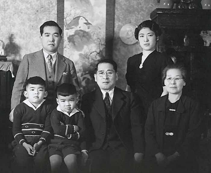 The Mihara family. Sam is front and center.