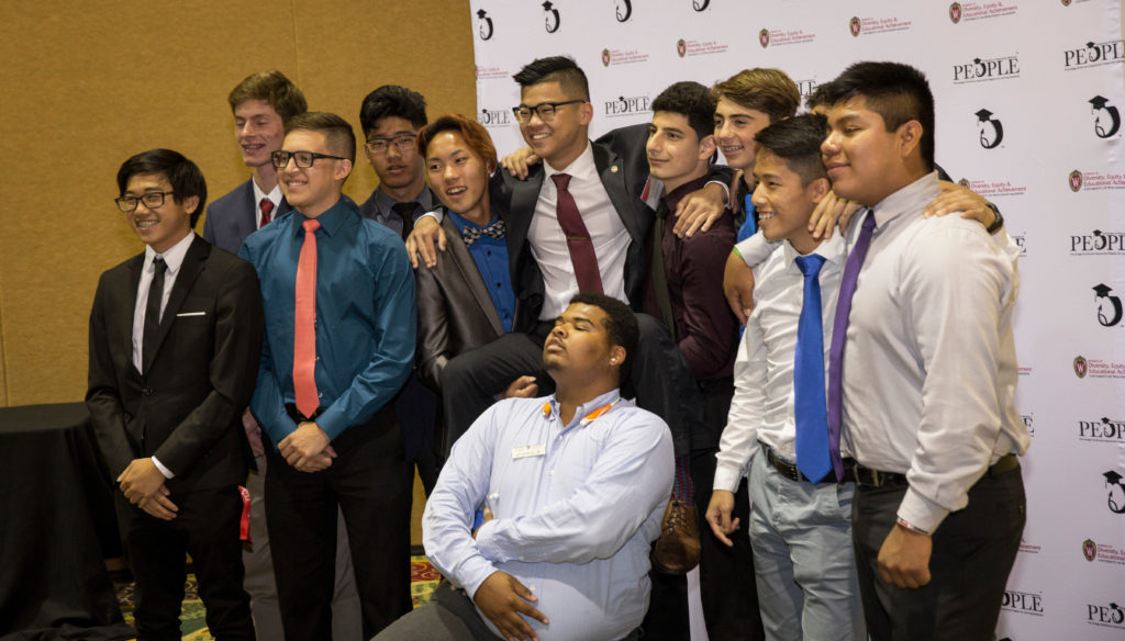 Rising hHgh School Seniors celebrate the completion of their final precollege summer session at the annual Recognition Banquet. PEOPLE Banquet July 21, 2017, in Middleton, WI. DDEEA photo by Andy Manis.