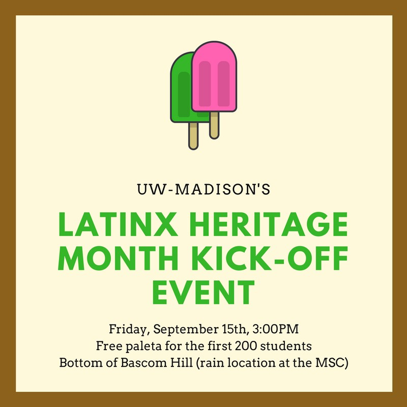 Latinx Heritage Month Kickoff poster