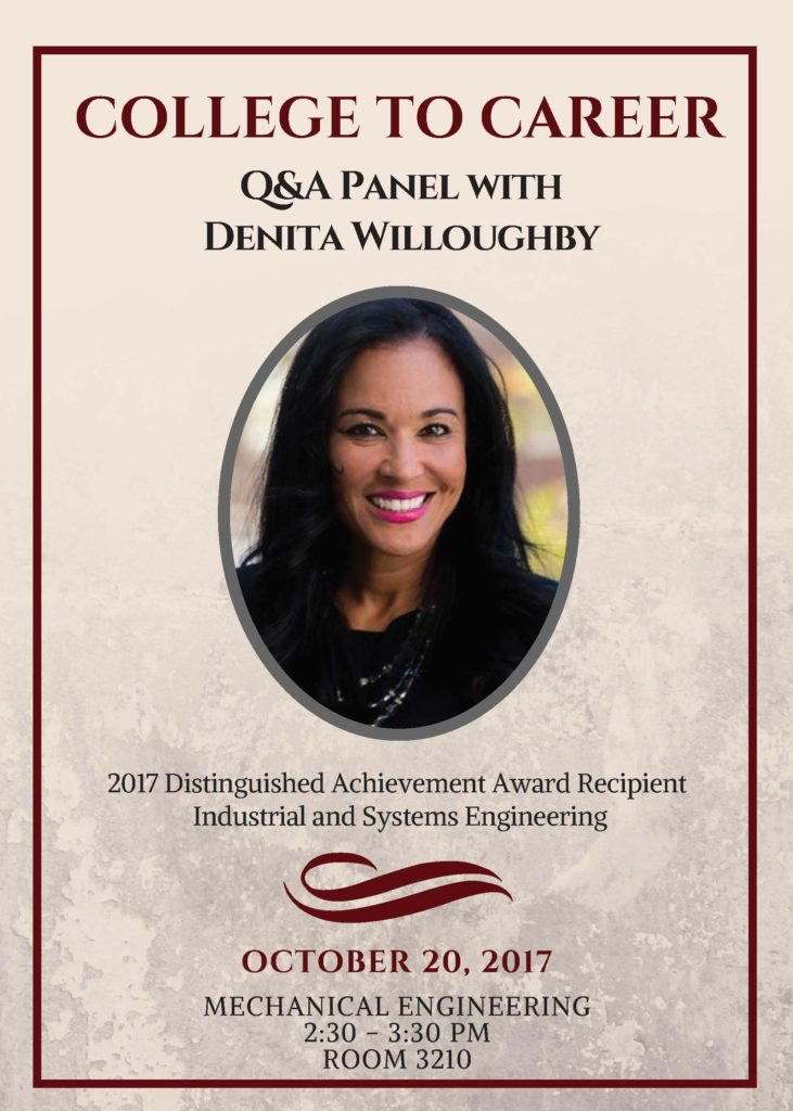 Denita Willoughby 2017 Question Answer Panel