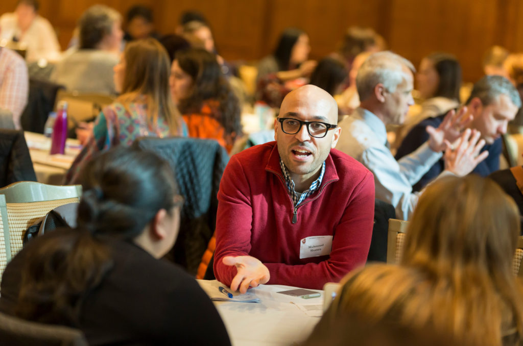 Forum participants engage in small group discussions, Diversity Forum 2017 Nov. 7, 2017. (Photo © Andy Manis)
