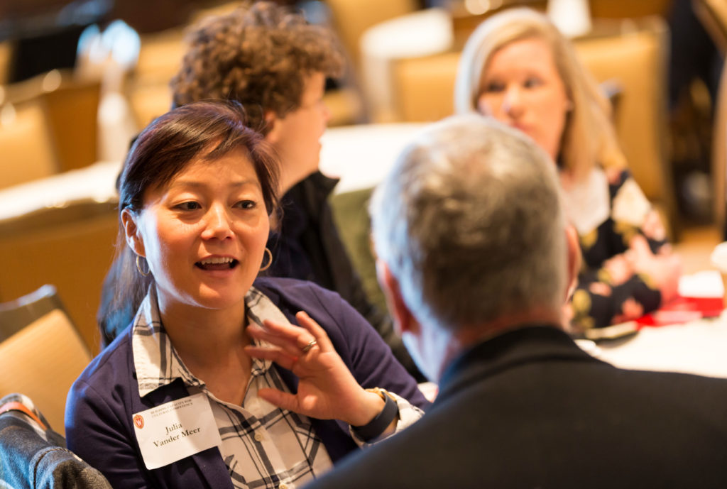Attendees participate in discussion groups DDEEA Diversity Forum 2017 Nov. 8, 2017. (Photo © Andy Manis)