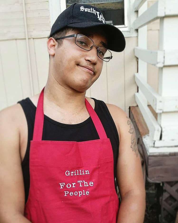 Devon Hamilton is a co-founder of TradeRoots Culinary Collective and a social justice organizer who frequently hosts community cookouts.