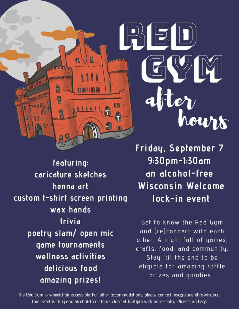 Red Gym After Hours poster