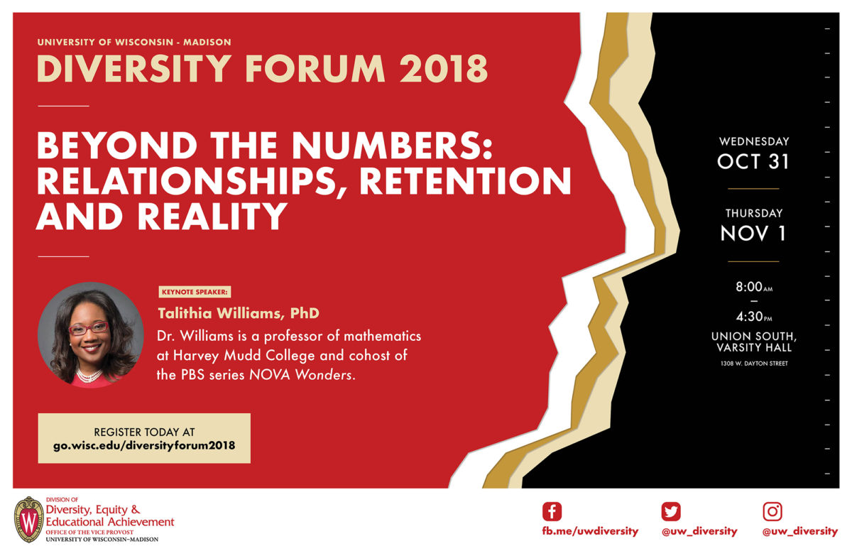 Poster for the 2018 UW–Madison Diversity Forum