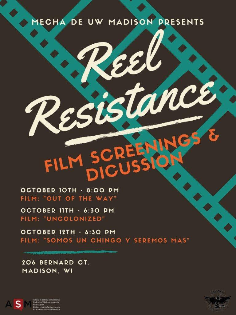 Reel Resistence film screening poster