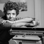 Hansberry, shown in her New York City apartment in 1959, was the first black woman to have a play produced on Broadway and the youngest playwright to win the New York Drama Critics' Circle Award.DAVID ATTIE / GETTY IMAGES