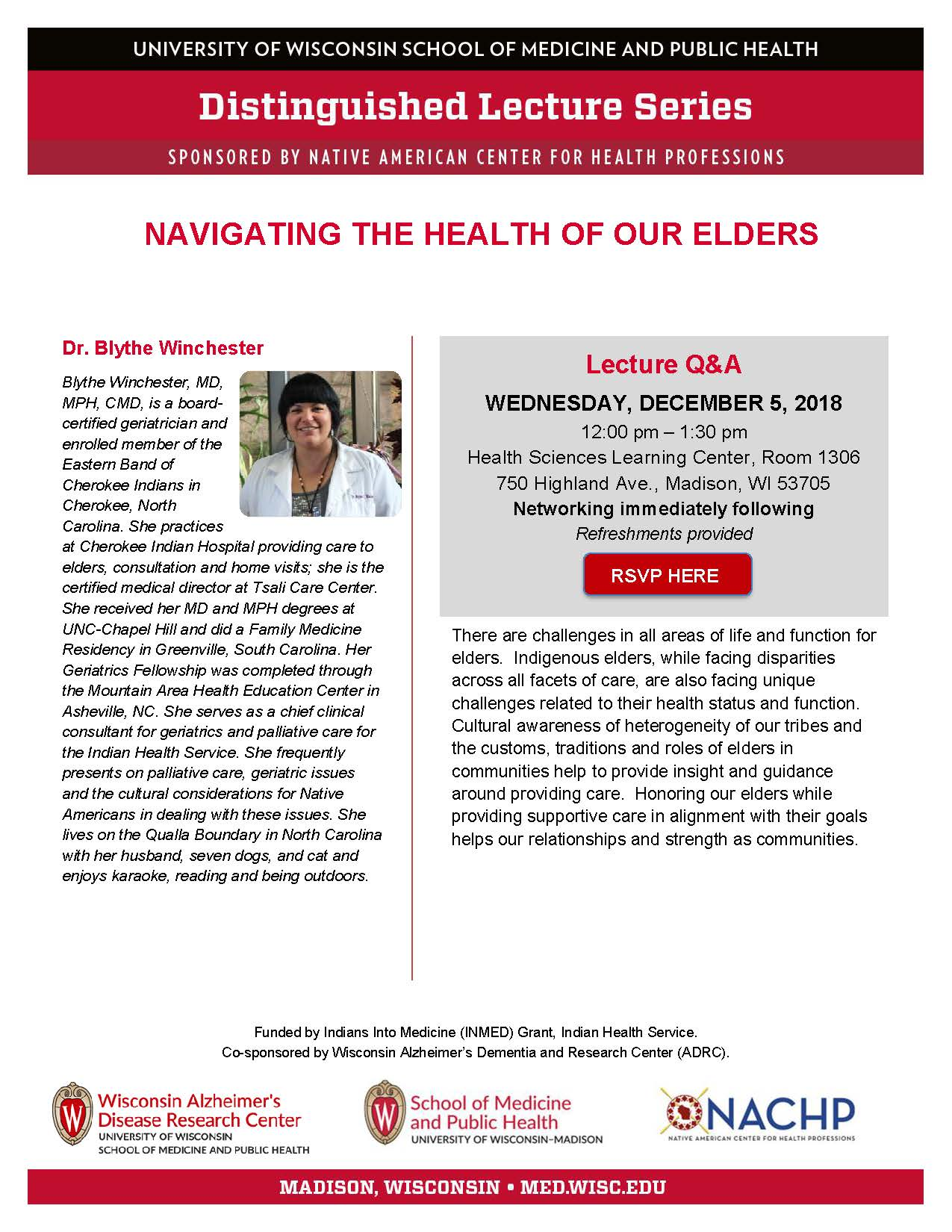 NACHP Distinguished Lecture Series features Dr. Blythe Winchester