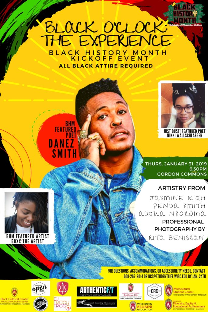 UW-Madison Black History Month Kick-off featuring Danez Smith