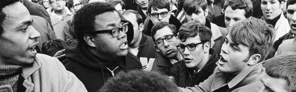 n altercation during University of Wisconsin student protests in support of the school's African-American community, February 12, 1969. ***research, add background. Blog post***