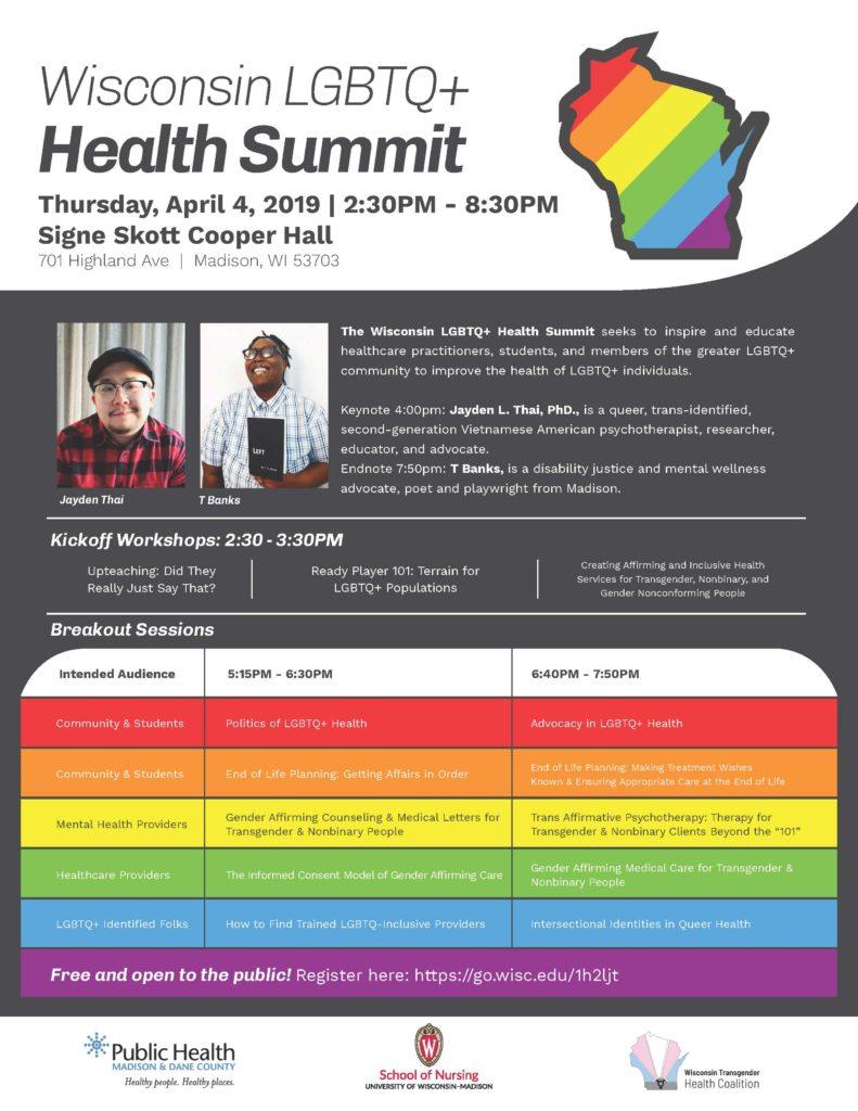 LGBTQ Health Summit is April 4