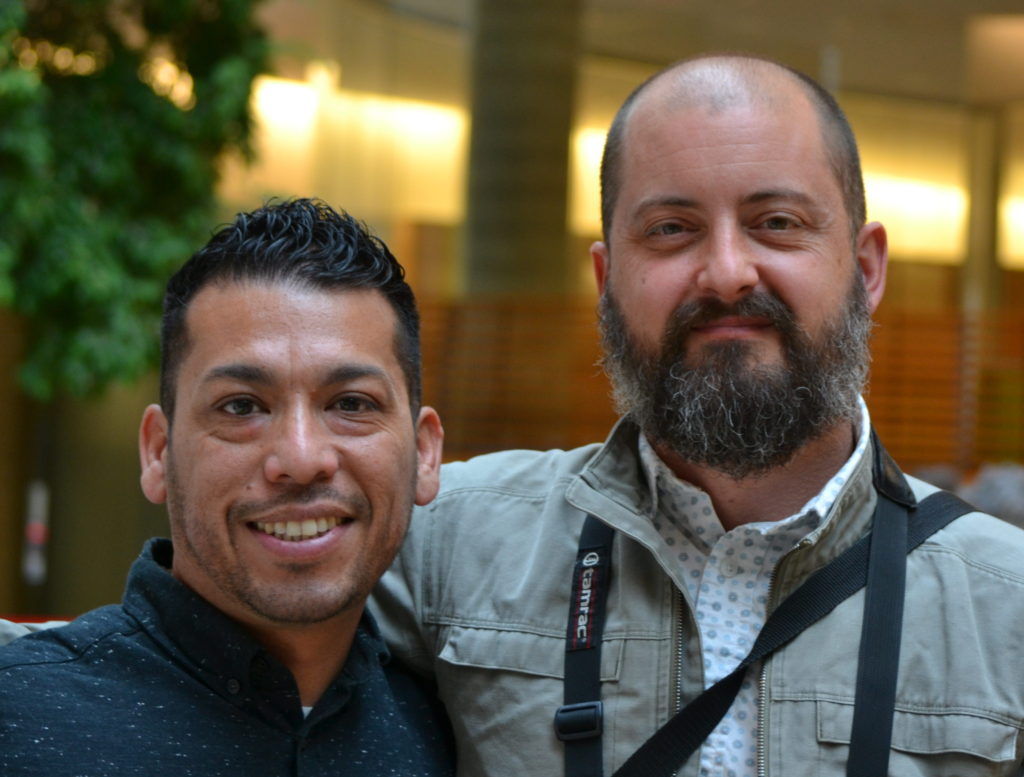 LCICE 20th Anniversary participants Jorge Rodriguez and Nathan Royko Maurer.