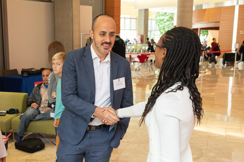 UW-Madison alum Joe Maldonado attended to offer his partnership as a mentor and recruiter for United Way of Dane County. Photo by Amadou Kromah.