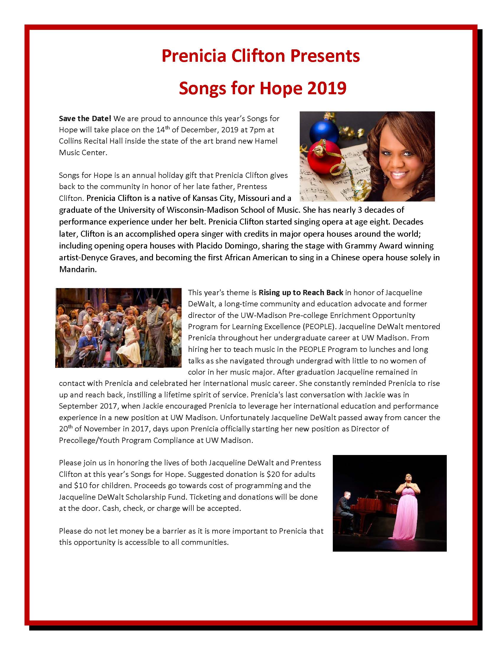 Songs of Hope poster