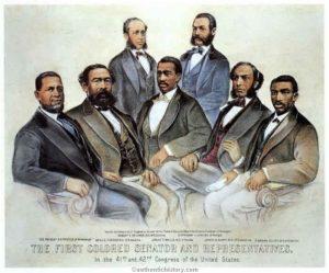 The first U.S. African-American Senator and Representatives