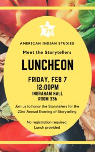 Storytelling Luncheon poster