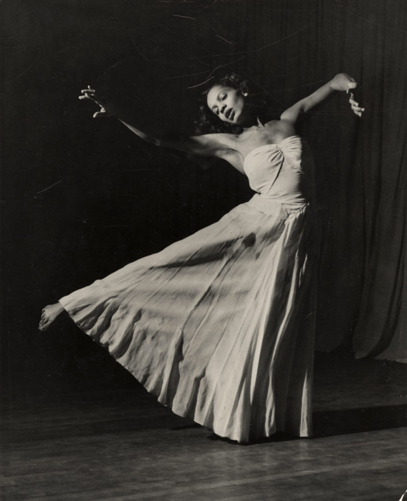 Hinkson dances in the Union Theater. Her experience with Margaret H'Doubler brought her to the attention of major dance troupes. UW ARCHIVES S16295
