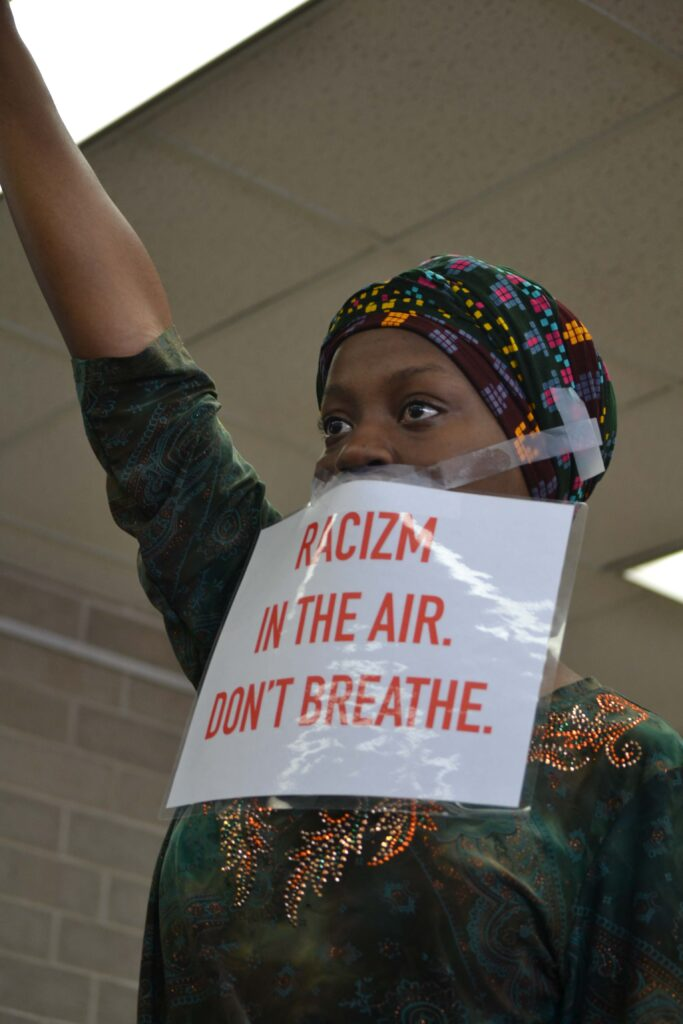 UW-Madison student protests at Black Lives Matter rally.