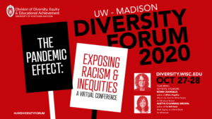 Poster for the 2020 UW–Madison Diversity Forum. Details below.