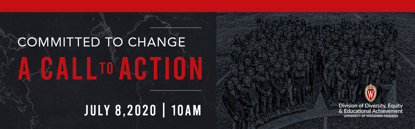 """Graphic advertising """"A Call to Action"""" a online event on July 8, 2020. Details at link."""
