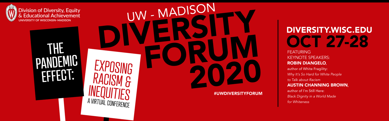 Graphic advertising the UW–Madison Diversity Forum. Details at link.