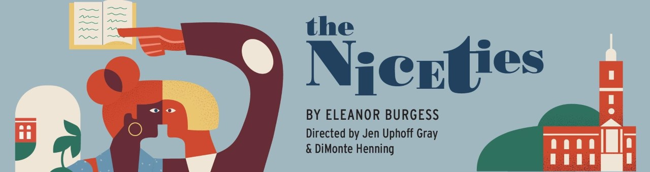 """Colorful poster for the play """"The Niceties"""""""
