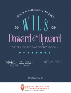 Program cover for the Wisconsin Women in Leadership Symposium