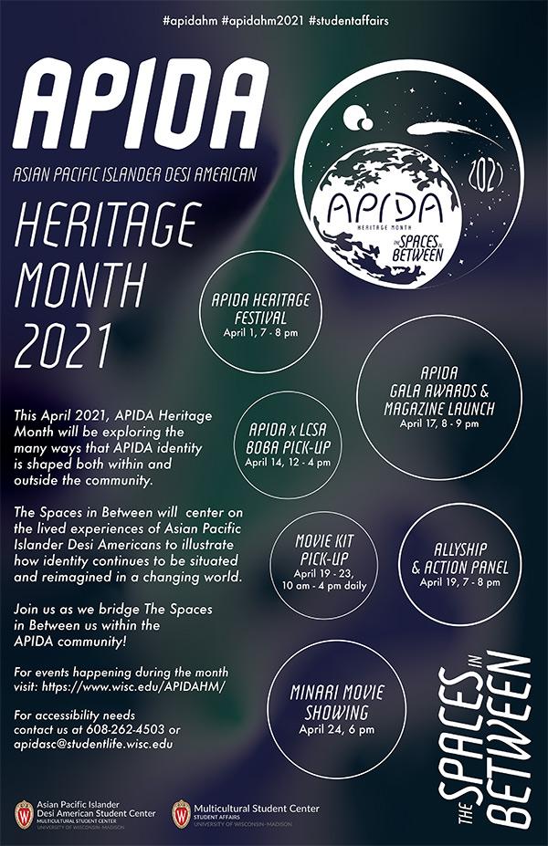 diversity.wisc.edu: Celebrating Asian Pacific Islander Desi American (APIDA) Heritage Month 2021