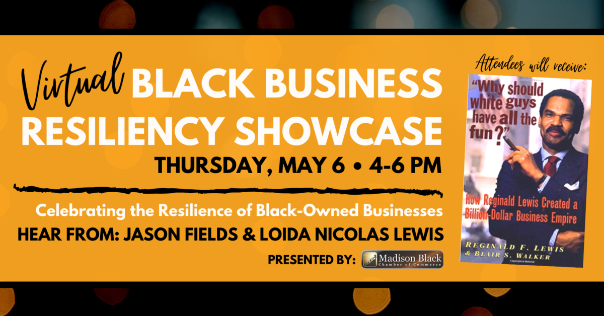 Black Business Resiliency Showcase poster