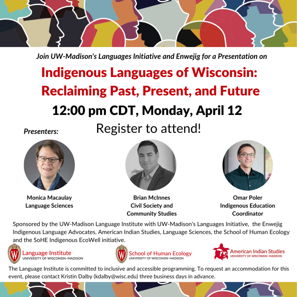 Indigenous Language workshop poster