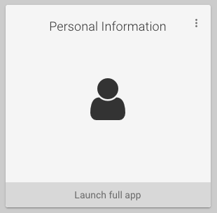 Screenshot of the Personal Information app button on my.wisc.edu