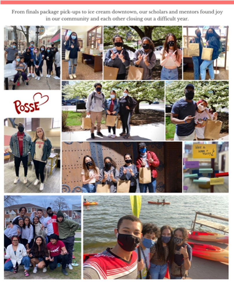 From final package pick-ups to ice cream downtown, our scholars and mentors found joy in our community and each other closing out a difficult year. Photos courtesy of Posse Wisconsin.