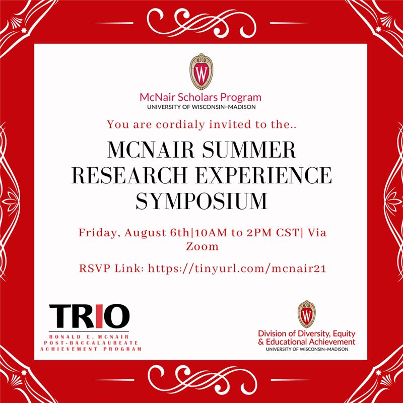 Poster advertizing the McNair Summer Research Symposium. Details in the body of this post.