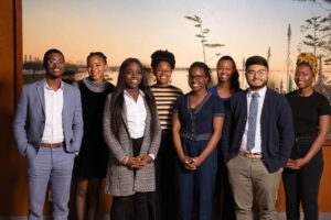 A group photo of undergraduate students in the McNair Scholars program